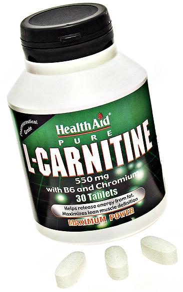 Health Aid L-Carnitina + B6 + picolinato de cromo 30 comprimidos