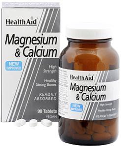 Health Aid magnesio + calcio  90 comprimidos