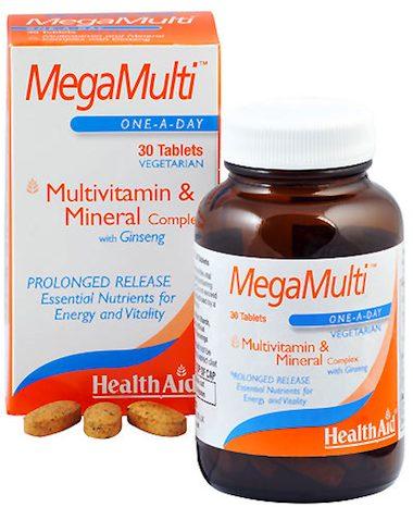 Health Aid Megamulti con Ginseng 30 comprimidos