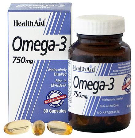 Health Aid Omega 3 750mg 30 capsulas