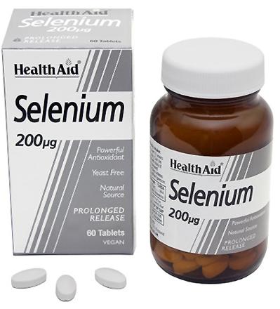 Health Aid Selenio 200 mcg 60 comprimidos