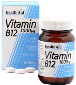 Health Aid Vitamina B12 1000mcg 50 comprimidos