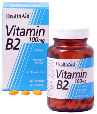 Health Aid vitamina B2 o Riboflavina 100mg 60 comprimidos
