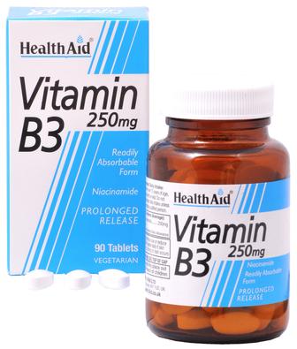 Health Aid Vitamina B3 250mg  90 comprimidos