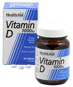 Health Aid vitamina D3 1000UI 30 comprimidos