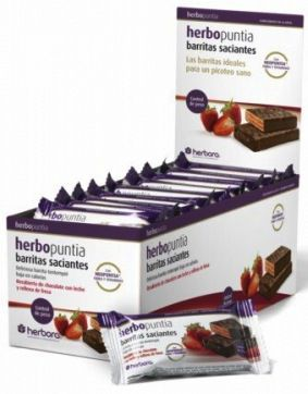 Herbora Barrita de Fresa Herbopuntia 24 unidades