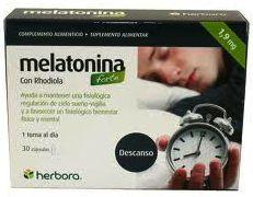 Herbora Melatonina Forte con Rhodiola 1mg 30 cápsulas