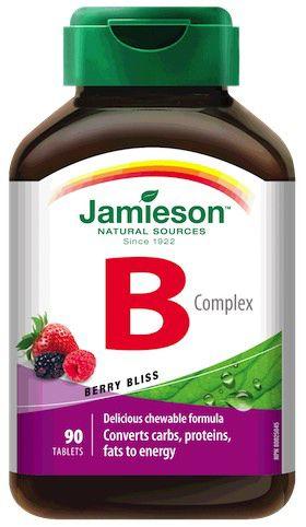 Jamieson B-Complex 25mg 90 comprimidos masticables