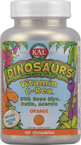 KAL Vitamina C Rex 100 masticables sabor naranja