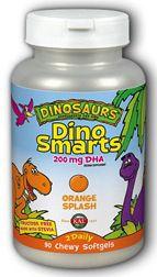 KAL Dino Smarts 90 masticables sabor naranja