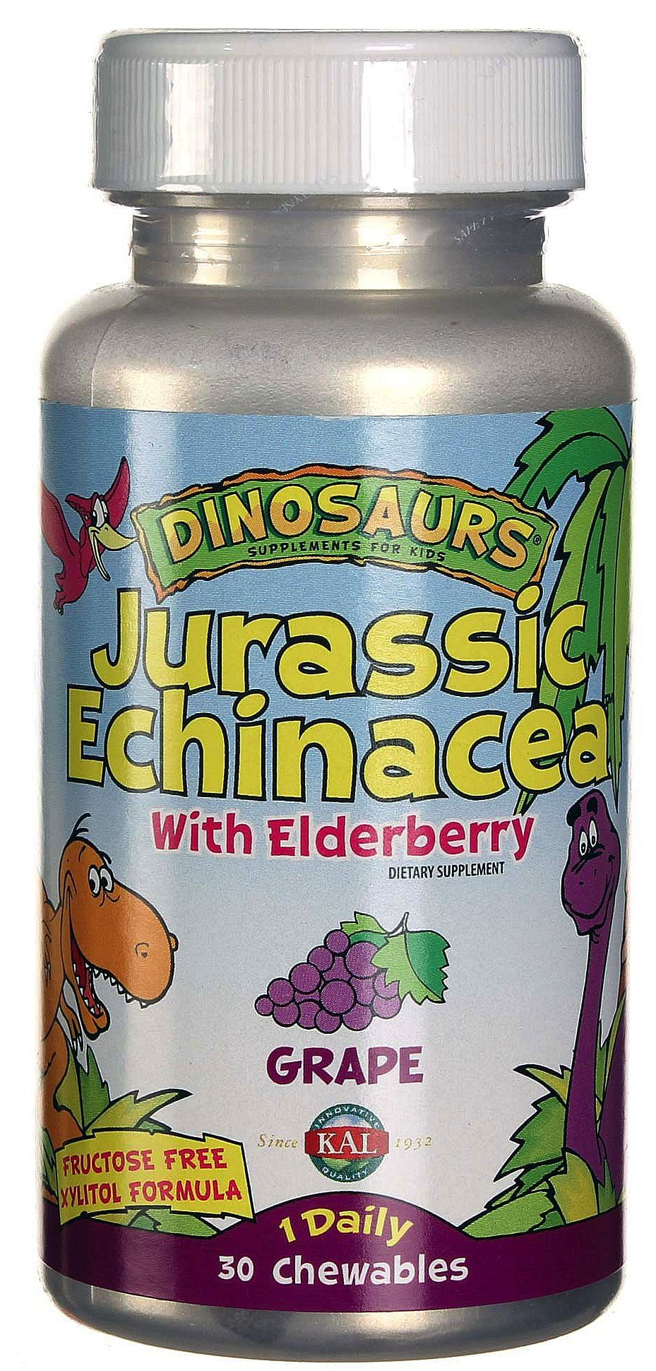 KAL Jurassic Echinacea 30 masticables sabor uva