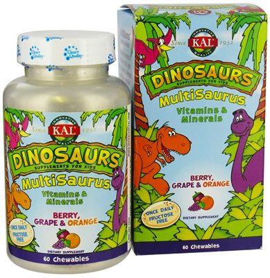 KAL Multisaurus 60 masticables sabor frutas