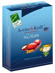 100% Natural aceite de krill niños 60 perlas
