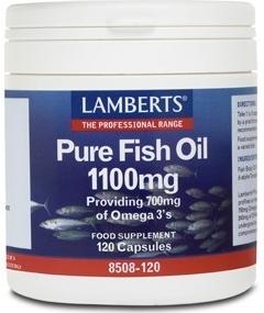 Lamberts Aceite de Pescado Puro 1100mg 120 cápsulas