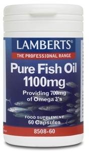 Lamberts Aceite de Pescado Puro 1100mg 60 cápsulas