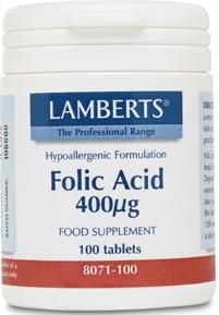 Lamberts Ácido Fólico 400µg 100 comprimidos