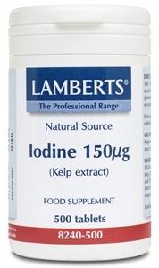 Lamberts Kelp-Yodo 150µg 500 comprimidos