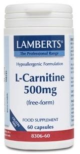 Lamberts L-Carnitina 500mg 60 cápsulas
