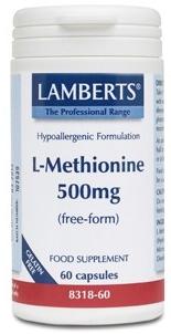 Lamberts L-Metionina 500mg 60 cápsulas