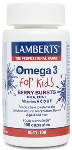 Lamberts Omega 3 for Kids 100 cápsulas