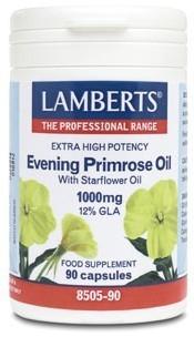 Lamberts Onagra (Prímula) y Borraja 90 cápsulas