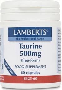 Lamberts Taurina 500mg 60 cápsulas