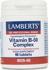 Lamberts Vitamina B-50 Complex 60 comprimidos