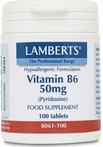 Lamberts Vitamina B6 50mg 100 comprimidos