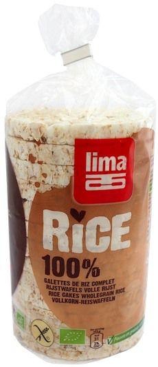 Lima Tortitas de Arroz Integral Bio 100g