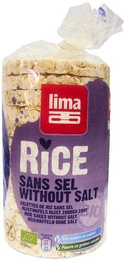 Lima Tortitas de Arroz Integral Sin Sal Bio 100g