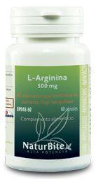 Naturbite L-Arginina 500mg 60 cápsulas
