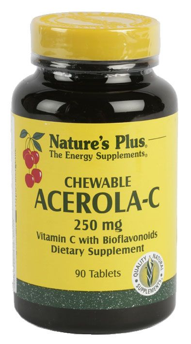 Nature's Plus Acerola C 250mg 90 masticables