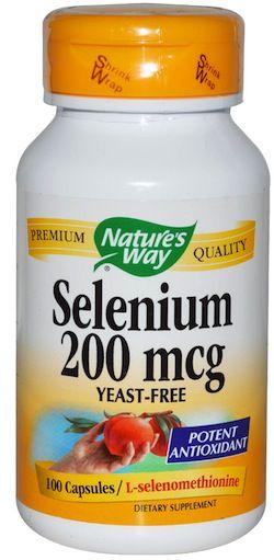 Nature's Way Selenio 200mcg 100 cápsulas
