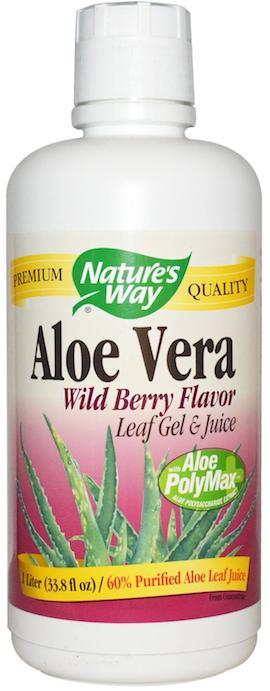 Nature's Way Zumo y Gel de Aloe Vera frutas del bosque 1 Litro