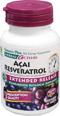 Nature's Plus Açai-Resveratrol 30 comprimidos