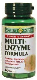 Nature´s Bounty Multi Enzyme Fórmula 60 comprimidos