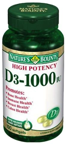 Nature´s Bounty Vitamina D3 1000ui 100 perlas