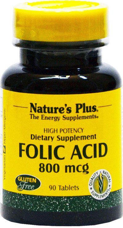 Nature's Plus Ácido Fólico 800µg 90 comprimidos