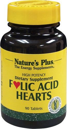 Nature's Plus Acido Fólico Hearts 90 comprimidos