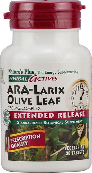 Nature's Plus Ara-Larix & Hoja de Olivo 30 comprimidos