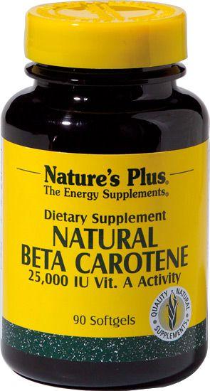 Nature's Plus Beta Caroteno Natural 90 cápsulas
