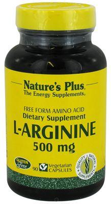 Nature's Plus L-Arginina 500mg 90 cápsulas