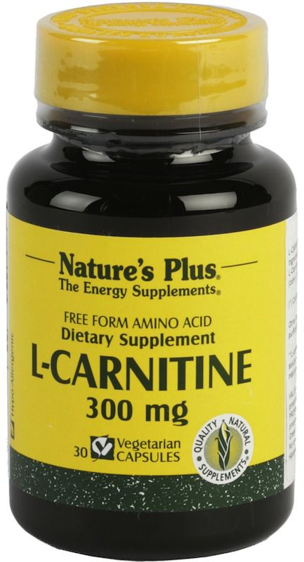 Nature's Plus L-Carnitina 300mg 30 cápsulas