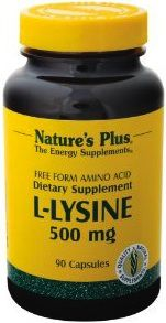 Nature's Plus L-Lisina 500mg 90 cápsulas