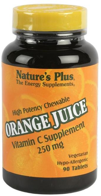 Nature's Plus Orange Juice C 250mg 90 masticables
