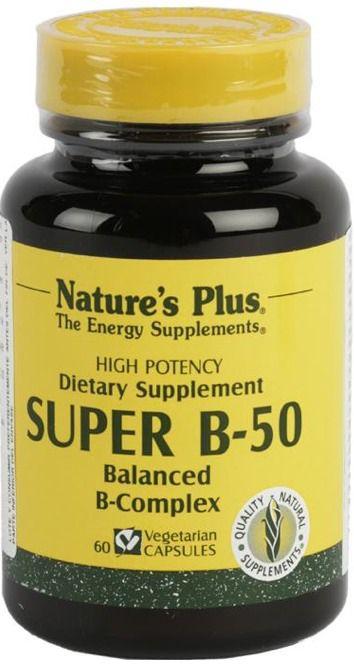 Nature's Plus Super B-50 60 cápsulas