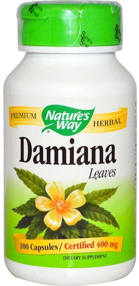 Nature's Way Damiana Mexicana 100 cápsulas