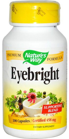 Nature's Way Eyebright fórmula herbal 100 cápsulas