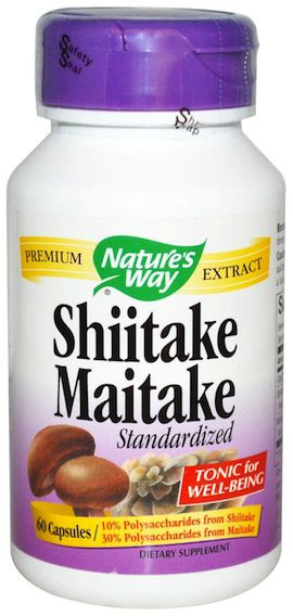 Nature's Way Shiitake Maitake Estandarizado 60 cápsulas
