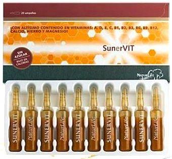 Naturlife Sunervit 20 ampollas